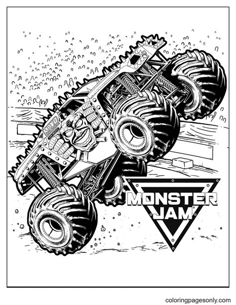 Amazon monster truck coloring book