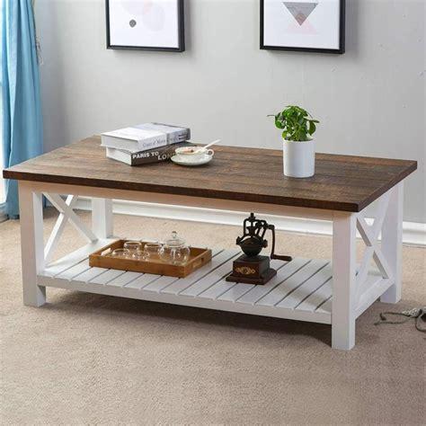 Amazon rustic white coffee table