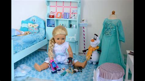 American Girl Doll Disney Frozen Elsa s Bedroom YouTube