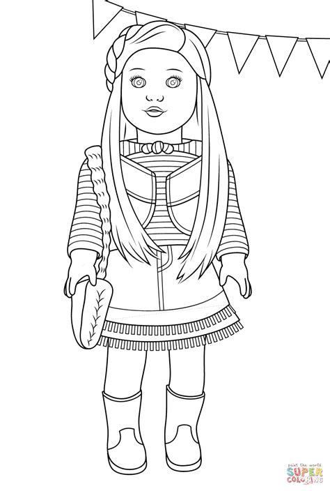 American Girl Mckenna coloring page Free Printable