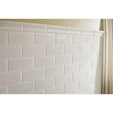 American Olean Starting Line White Gloss Subway Tile Lowe s