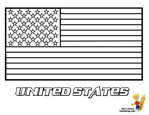 American U S Flag Coloring Pages United States Flags