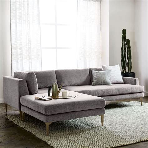 Andes 3 Piece Chaise Sectional west elm