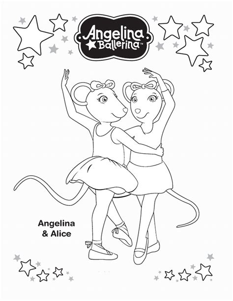 Angelina Ballerina Coloring Pages coloring2print