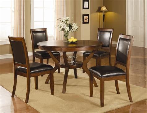 Angola Collection 102171 Round Transitional Dining Table Set