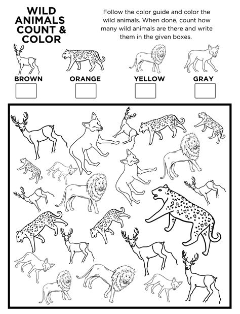 Animal Activities Online Coloring Pages Page 1