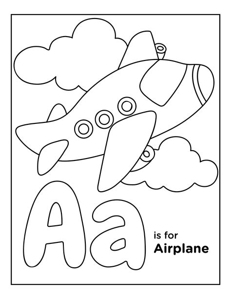 Animal Alphabet Letters Coloring Pages Education