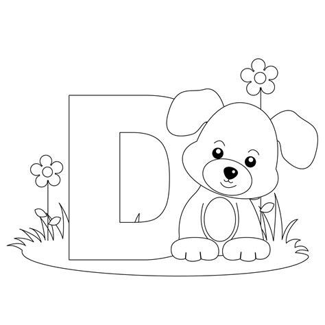 Animal Coloring Pages Letter D DLTK Kids