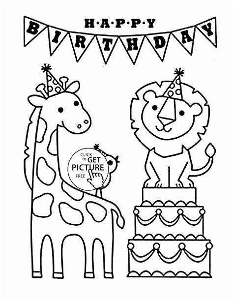Animal Coloring Pages Teacher Worksheets Birthday Party