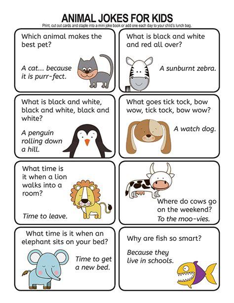 Animal Jokes for Kids Home Activity Village