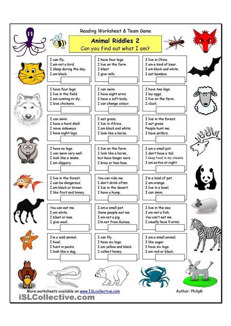 Animal Riddles Riddles For Kids