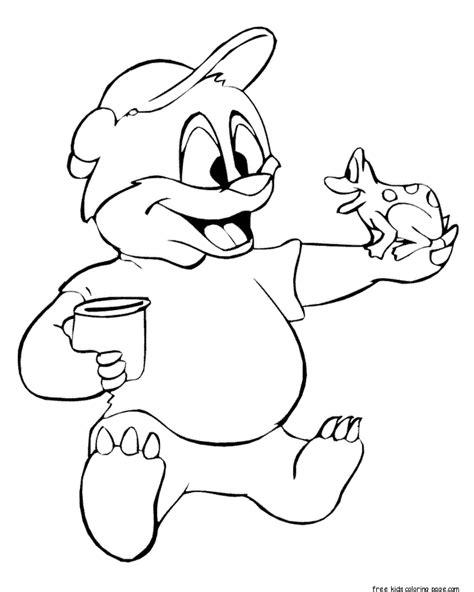 Animal coloring page Hip Hop Bear