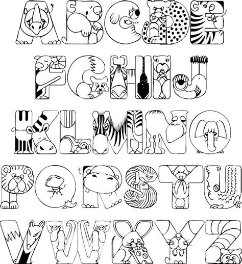 Animals Alphabet Coloring Pages Handwriting Worksheets