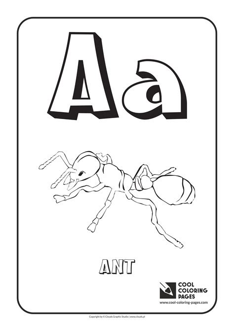 Animals Coloring Pages Letter A DLTK Kids