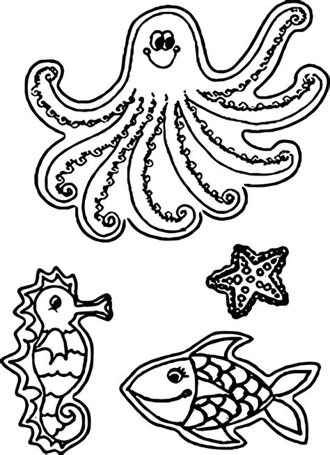Animals and Creatures Page 1 Free Colouring Pages from