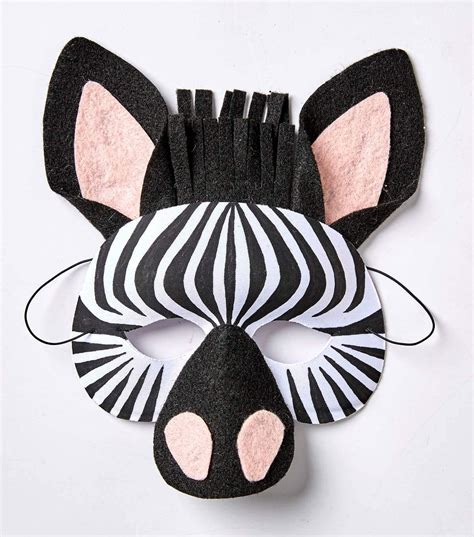 Animals mask for kids How to draw a zebra horse mask