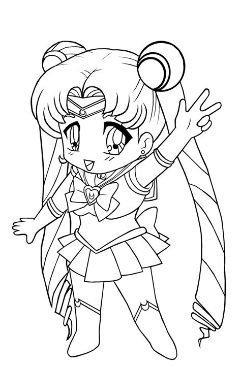 Anime Coloring Pages for Kids Free Printable Anime
