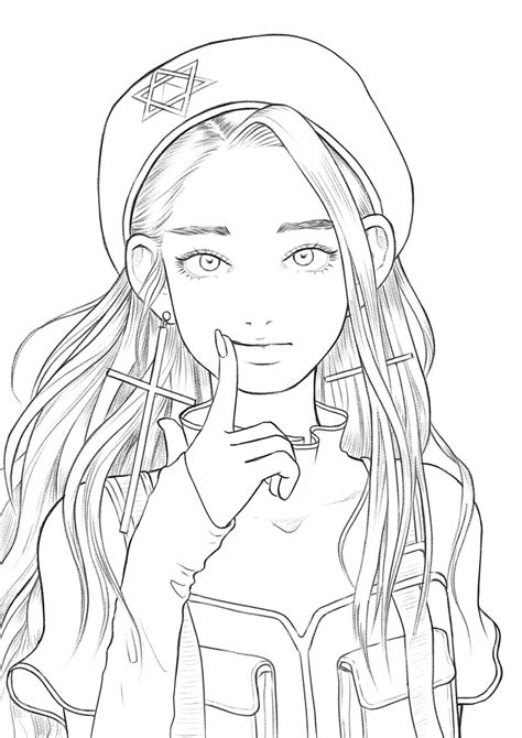 Anime coloring page Etsy