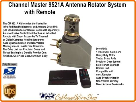 channel master rotor wiring diagram images vhf uhf tv antenna antenna rotator overview support information