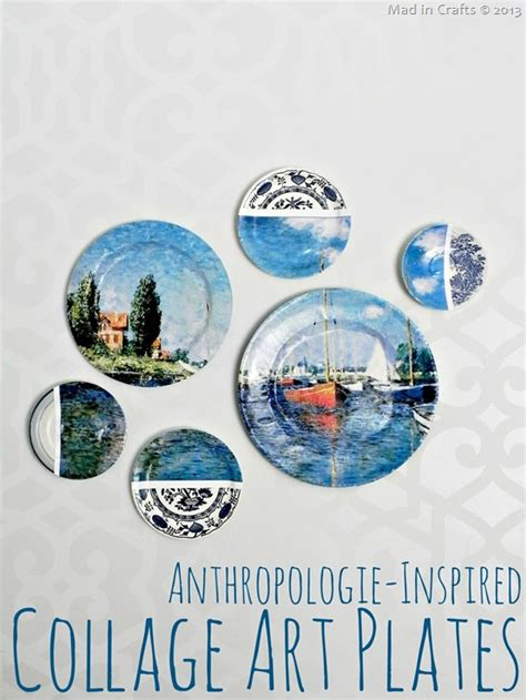 Anthropologie Inspired Collage Art Plates Mad in Crafts