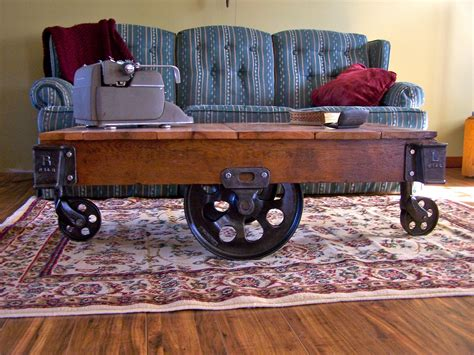 Antique Factory Cart Coffee Tables