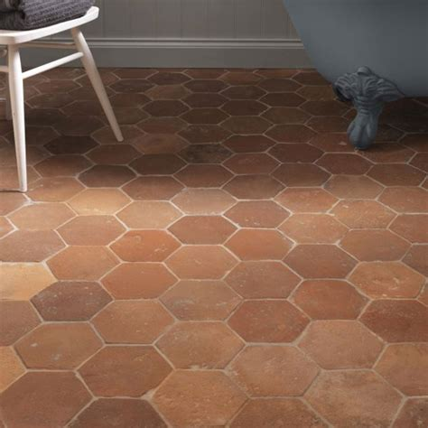 Antique Terracotta tiles Hexagonal Terracotta floor tiles
