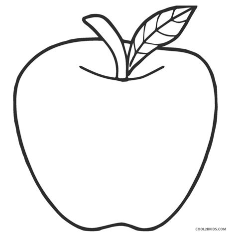 Apple Coloring Pages Free and Printable