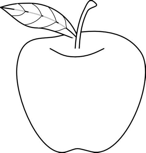 Apple Outline Clip Art at Clker vector clip art