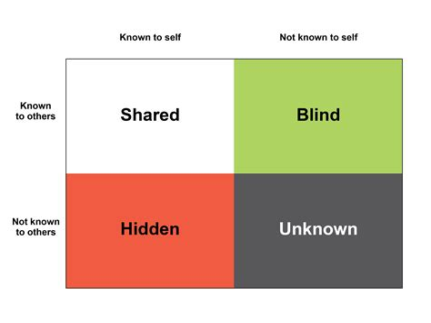 Application of Johari Window Theory to Understanding