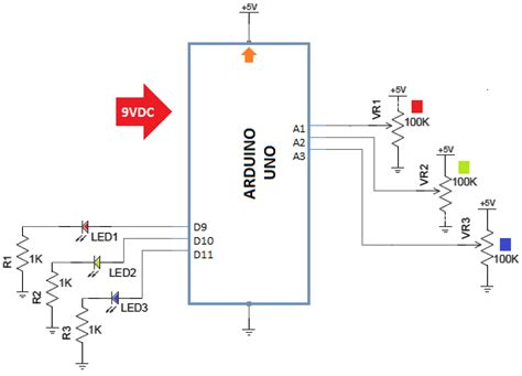 Arduino PWM Led Control ElectroSchematics