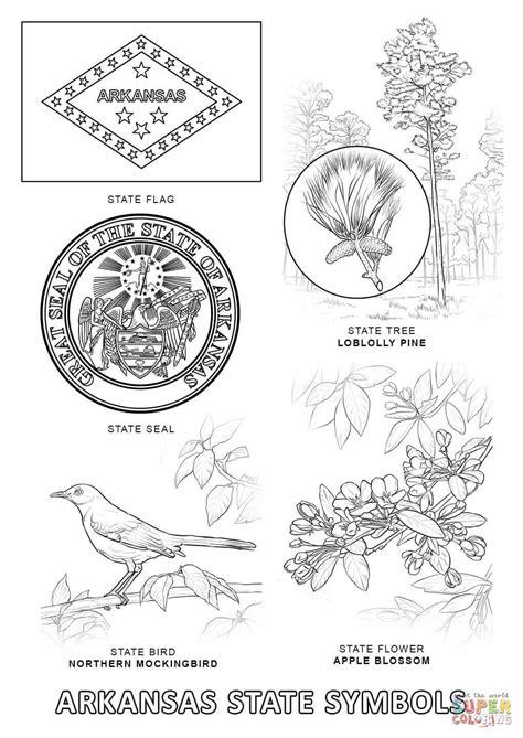 Arkansas State Symbols coloring page Free Printable