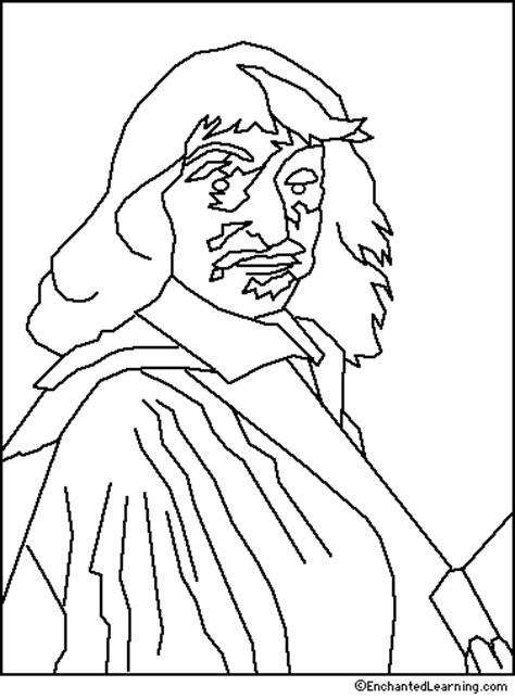 Art Coloring Pages Portraits EnchantedLearning