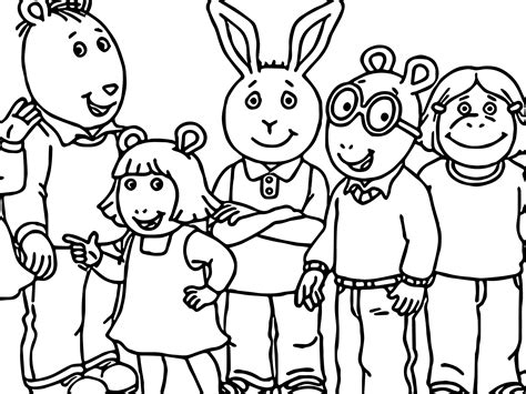 Arthur and Friends Coloring Pages for Kids
