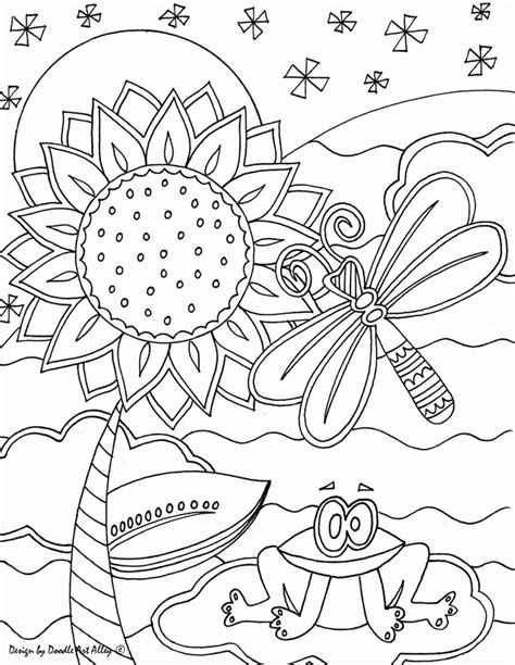 Artist Coloring Pages Doodle Art Alley