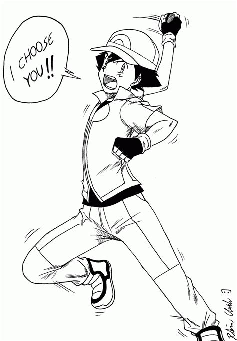 Ash Ketchum XYZ Coloring Pages Esidef