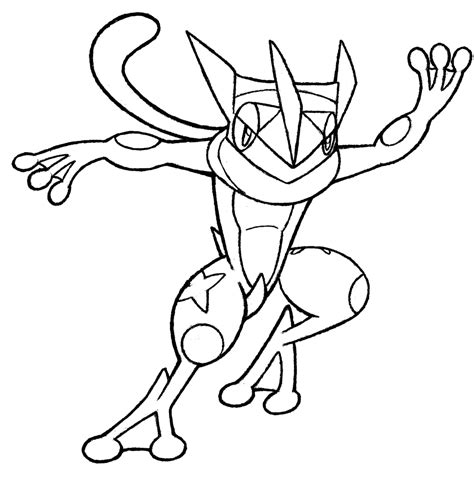 Ash s Greninja coloring page Free Printable Coloring Pages