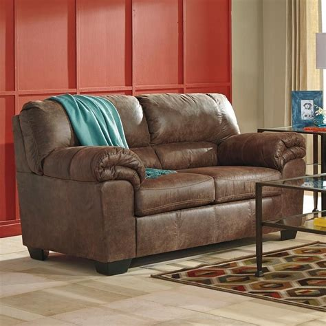 Ashley Bladen Brown Padded Arm Faux Le Furniture and