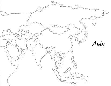 Asia Printable Maps Print Free Outline Maps