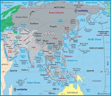Asia map Printable Maps printableworldmap