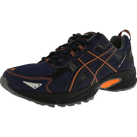 Asics Gel 5 Mens running shoes Sapphire blue orange black