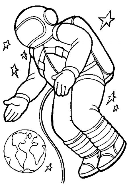 Astronauts coloring pages Free Coloring Pages