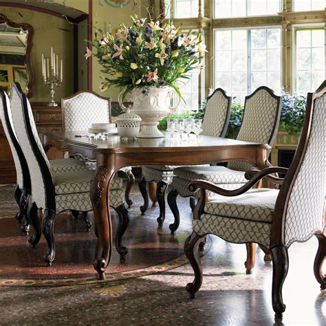 At Home in Belle Maison Round Table with Two Leaves by