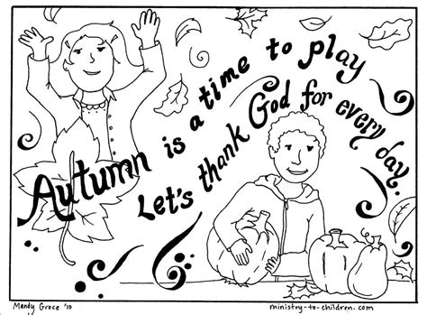 Autumn Coloring Page Let s Thank God MINISTRY TO CHILDREN