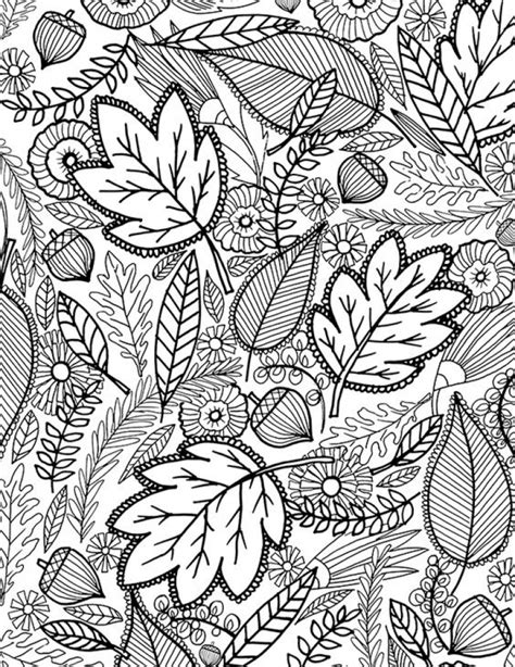 Autumn Leaves free printable Autumn coloring pages for