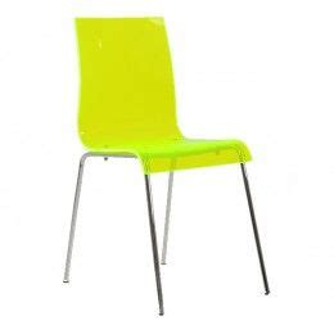 Ava Lime Gel Acrylic Dining Chair Lakeland Furniture