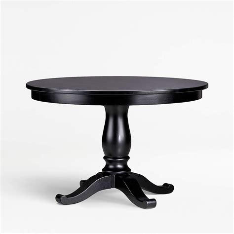 Avalon 45 Black Round Extension Dining Table Crate Barrel