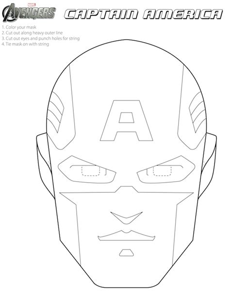 Avengers Free Printable Coloring Masks Is it for