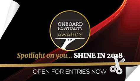 Awards entries Onboard Hospitality