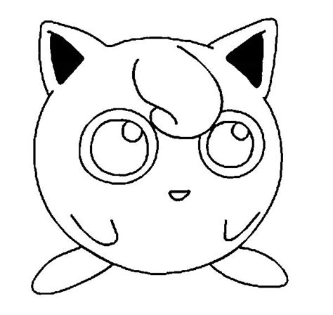 Awesome Pokemon Jigglypuff Picture Coloring Page