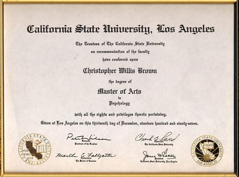 BA in Psychology California State University Los Angeles